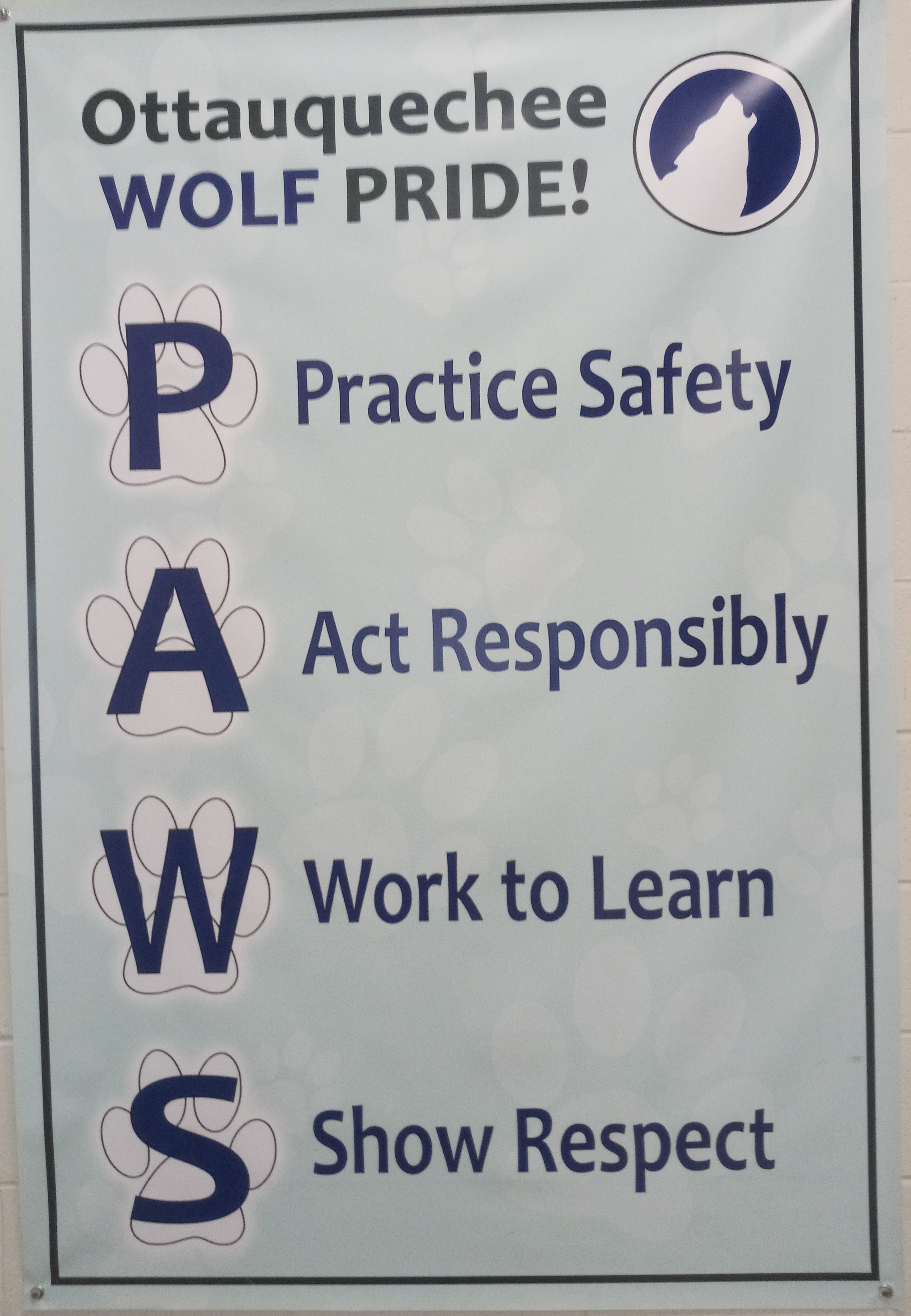 Photo of a PAWS poster